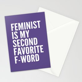 Feminist is My Second Favorite F-Word (Ultra Violet) Stationery Cards