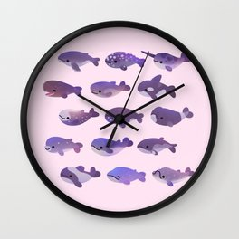 Whale Day - bright Wall Clock