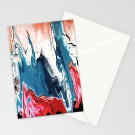 Metallic Paint Drips Stationery Cards