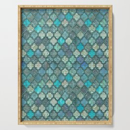 Moroccan Inspired Precious Tile Pattern Serving Tray