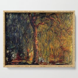 Claude Monet Weeping Willow 1919 Serving Tray