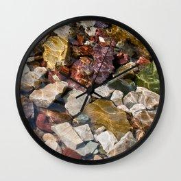 Colorful Glacial Rocks Wall Clock
