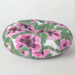 Pink Poppies Floor Pillow