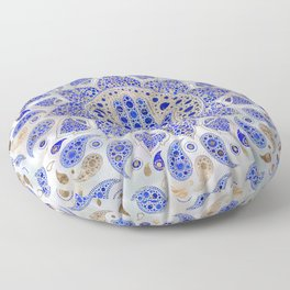 Hamsa Hand -Hand of Fatima Dot Art On Mother of pearl Floor Pillow