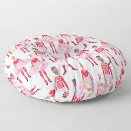 Nutcracker Ballet - White Floor Pillow