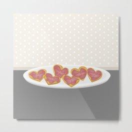 Independent donut hearts Metal Print