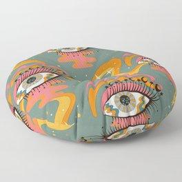 Cosmic Eye Retro 70s, 60s inspired psychedelic Floor Pillow