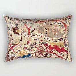 Heriz Azerbaijan Northwest Persian Silk Animal Rug Print Rectangular Pillow