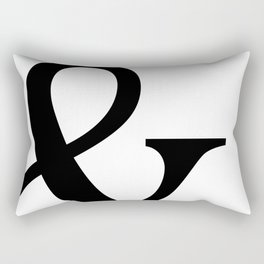 Typography, Ampersand, And Sign Rectangular Pillow