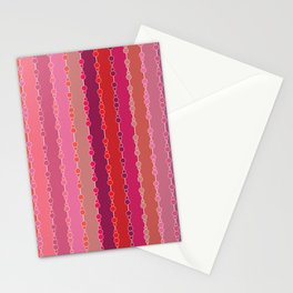 Multi-faceted decorative lines Stationery Cards