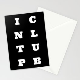 Intp club Stationery Cards