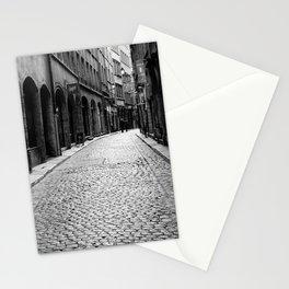 Stone pavement street: Vieux Lyon Stationery Cards