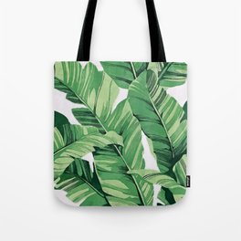 Tropical banana leaves V Tote Bag
