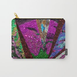 Peacock Mermaid Lavender Abstract Geometric Carry-All Pouch