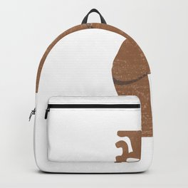 Minimal Abstract Greek Vase 8 - Krater - Terracotta Series - Modern, Contemporary Print - Sepia Backpack