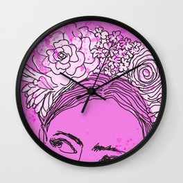 Always Wear Your Invisible Crown: Festival Flower Crown Edition Wall Clock