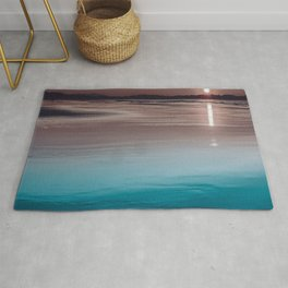 Sunset Aqua Lake Rug