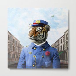 Postmaster Trenton Tigre on his Appointed Rounds Metal Print