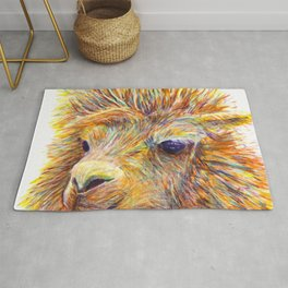 Colorful Llama art Rug