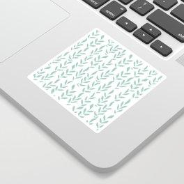 Green Minimalist Leaves Sticker