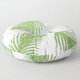 Glitter Palm Leaves Floor Pillow