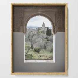 Window to Granada Serving Tray