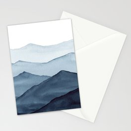 abstract watercolor mountains Stationery Cards
