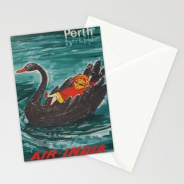 retro  Perth vintage poster Stationery Cards