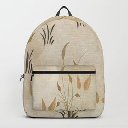 Lovely Botanical Leaves in Taupe Backpack