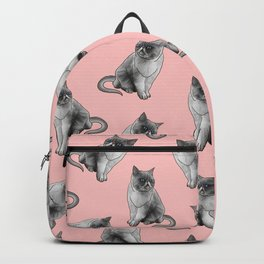 Cute Girly Pink Cats Animal Pattern Illustrations Backpack