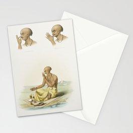 Barbet male from Histoire Naturelle des Oiseaux de Paradis et Des Rolliers (1806) by Jacques Barraba Stationery Cards