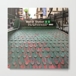 Wall Street Metal Print