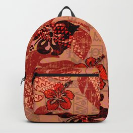 On Fire Kona Tribal Design Backpack