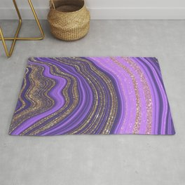 Purple & Gold Agate Rug
