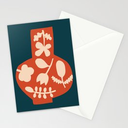 Floral Vase | Blue, Red, + Peach Stationery Cards