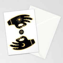 Mudra Hands Stationery Cards