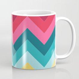 Retro 90s and 80s Vibrant Striping Mid-Century Minimalist Geometric Line Abstract Art Coffee Mug