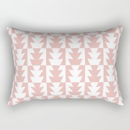 Art Deco Jagged Edge Pattern Dusty Rose Rectangular Pillow