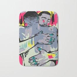 Hold me! Two Men Hugging Bath Mat
