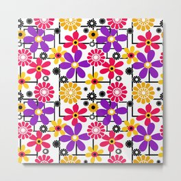 Fashionable floral multicolored pattern Metal Print