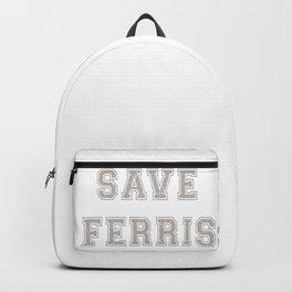 Save Ferris Bueller Original High School Theme T Shirt Backpack