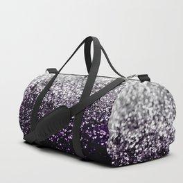 Dark Night Purple Black Silver Glitter #1 #shiny #decor #art #society6 Sporttaschen