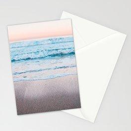 Blue orange beach Stationery Cards