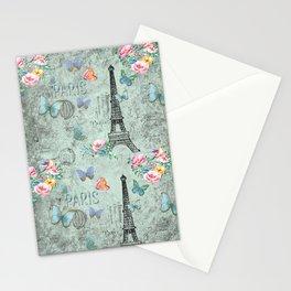 Paris - my love - France Eiffeltower Nostalgy - French Vintage Stationery Cards