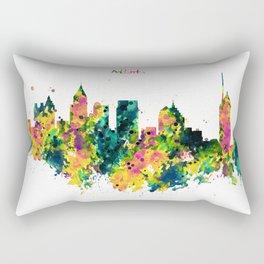 Atlanta Watercolor Skyline Rectangular Pillow