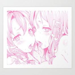 Sexy anime aesthetic - naughty girls Kunstdrucke