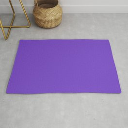 From The Crayon Box – Purple Heart - Bright Purple Solid Color Rug