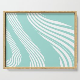Abstract cords 2 Serving Tray
