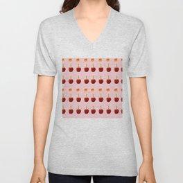 Candy Apples in Pink Unisex V-Neck