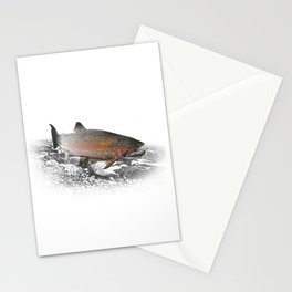 Migrating Steelhead Trout Stationery Cards
